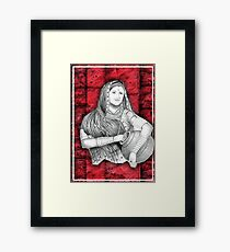 Indian Lady Framed Print