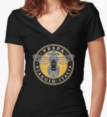 Vespa Piaggio Italia Women's Fitted V-Neck T-Shirt