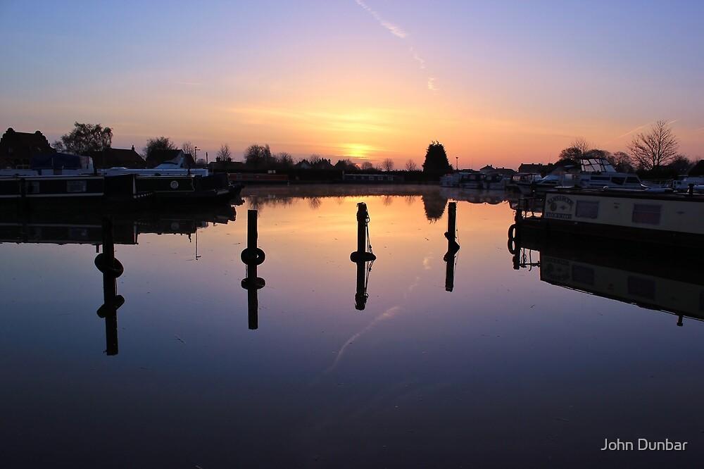 West Stockwith Basin Sunrise by John Dunbar
