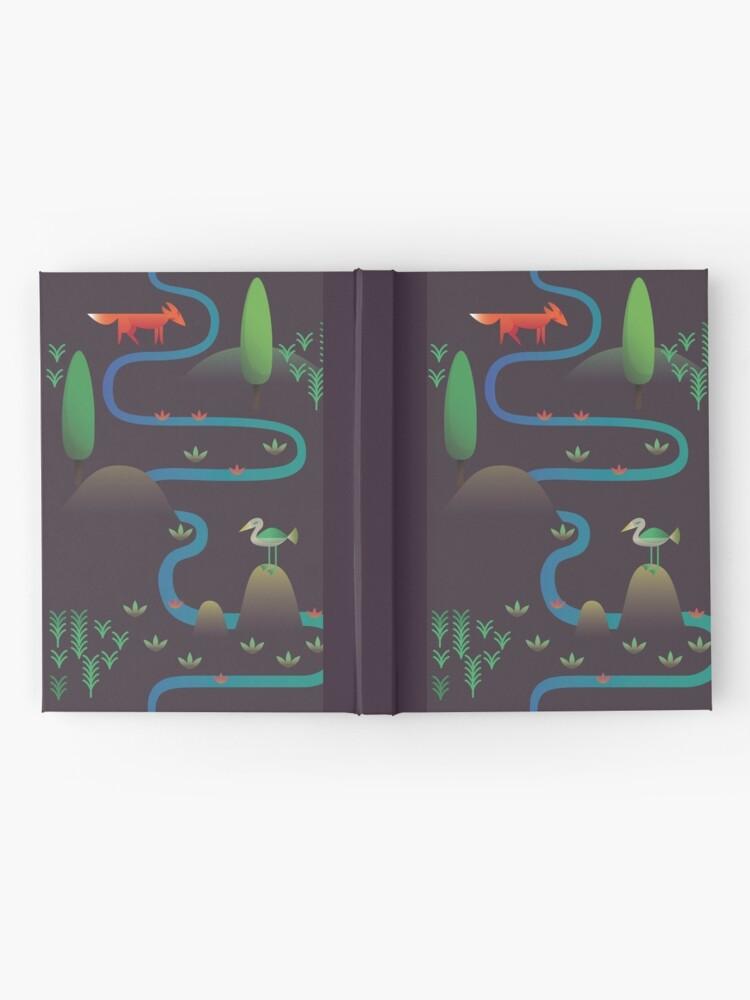 Alternative Ansicht von Landschaft - Fuchs und Bach 2 (Muster) Notizbuch