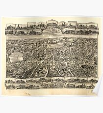 Panoramic Maps Newton Centre Massachusetts 1897 Poster