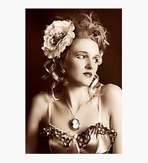 I Wonder (Vintage Beauty) Photographic Print