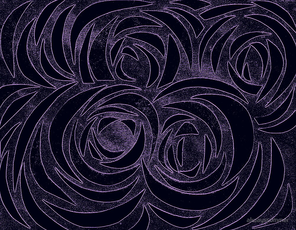 Purple Roses by alwayssummer