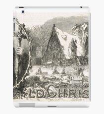 Old Christmas Church Snow scene 1862 iPad Case/Skin