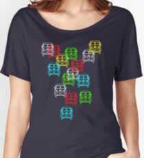 Multi Colour Campervan Women's Relaxed Fit T-Shirt