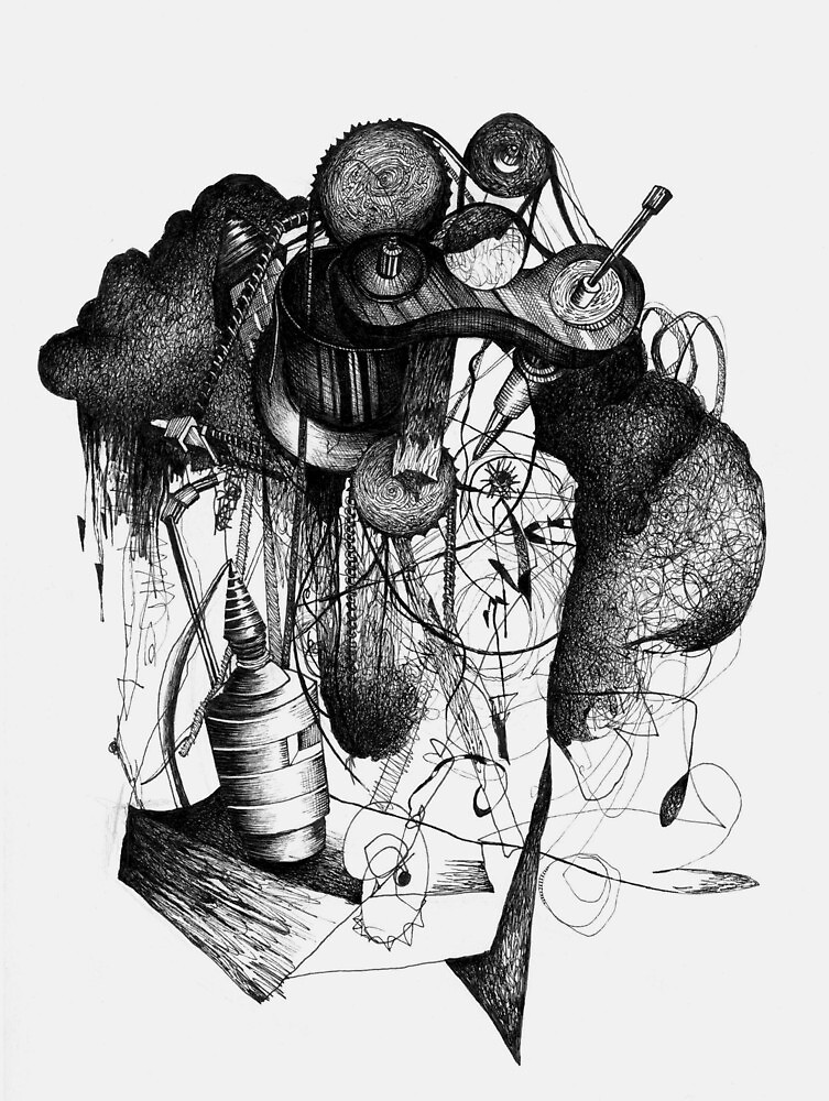 8 by 10 inch ink drawing on watercolor paper by Milkman620