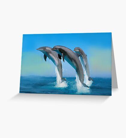 Dolpins at play Greeting Card
