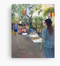 Fiesta Sidewalk Canvas Print