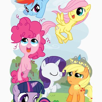 Filly Mane 6 by imscootaloo