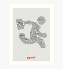 Versus (White) Art Print