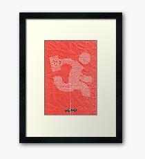 Versus (Red) Framed Print