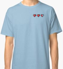 Half-Heart Video Game Hearts Classic T-Shirt