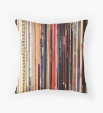 Vinyl Records Indie Rock  Throw Pillow