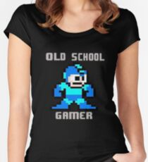 Old School Gamer Women's Fitted Scoop T-Shirt