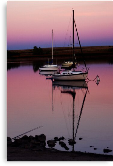 Sunset. Yachts at Aurora Reservoir. Denver. Colorado. USA. Photo 9 by Anatoly Lerner