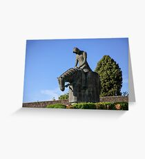 Statue of St Francis of Assisi turning back from crusade Greeting Card