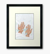 beautiful female hands Framed Print