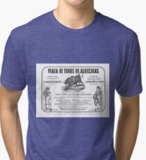 Poorly translated Bull fight Bill 1873 Tri-blend T-Shirt