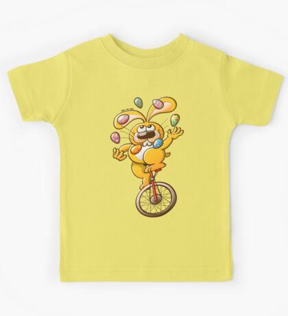 Easter Bunny Juggling Eggs Kids Clothes