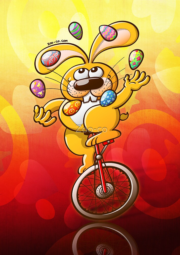 Easter Bunny Juggling Eggs by Zoo-co