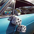 Double Dice 5x5 Classic Car fuzzy white by Stone Bandana