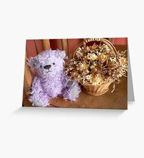 Purple Bear Greeting Card
