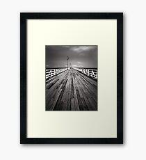 """Walking the Planks"" ∞ Shorncliffe, QLD - Australia Framed Print"