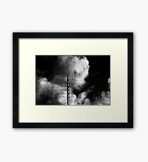 Power Pole and Clouds Framed Print