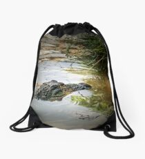something in the water Drawstring Bag