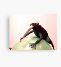 Smoking May Harm Your Frog Canvas Print