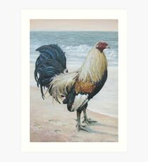 """""""Before The Fight"""" (Rooster 2) Art Print"""