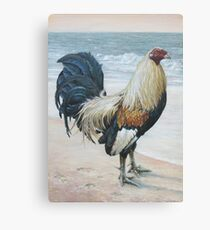 """Before The Fight"" (Rooster 2) Canvas Print"