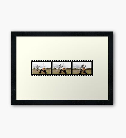 Striding Out. Framed Print