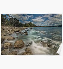 Hotwater Beach Rocks Poster