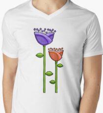 Fun Doodle Flowers purple orange T-Shirt
