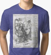 Jack the Ripper Punch Cartoon The pandemonium of posters  1888 Tri-blend T-Shirt