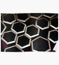 Grouped Hexagons Poster