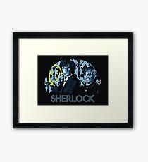 Sherlock - A Study in Blue Framed Print