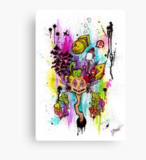 Atomic Thinking Canvas Print