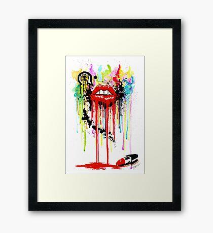 Poison Lips Framed Print