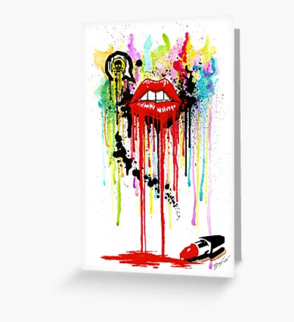 Poison Lips Greeting Card