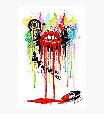 Poison Lips Photographic Print