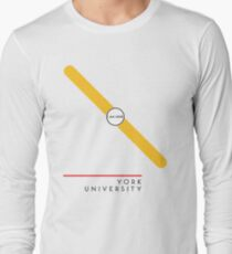 ¥ORK UNIVERSITY [white] Long Sleeve T-Shirt