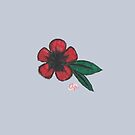 Lonely Red Flower by Almondparty