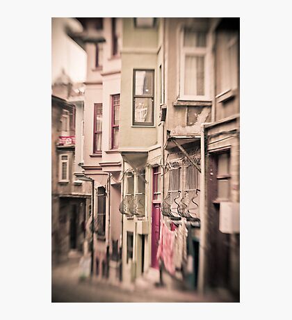 The Warm Streets of Balat Photographic Print