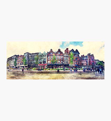 Nottingham panorama city watercolor Photographic Print