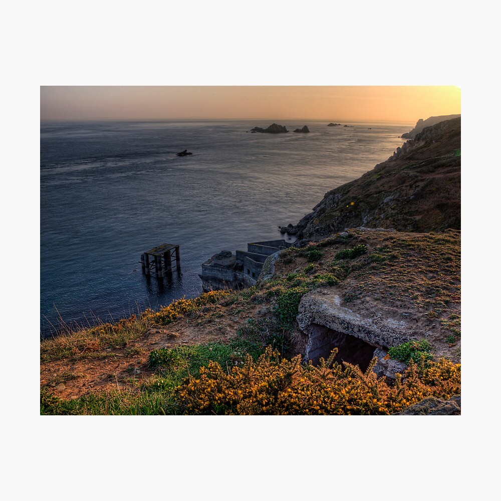 The Ruins of the Cachaliere Pier -Alderney Photographic Print