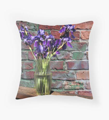 Iris Vase Throw Pillow