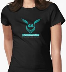 Lewis Hamilton Triple World Champion (teal) Womens Fitted T-Shirt