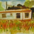 caravan at Saddell by Alfred Gillespie